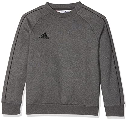 adidas CORE18 Y Sudadera, Unisex Niños, Gris (Dark Grey Heather/Black)