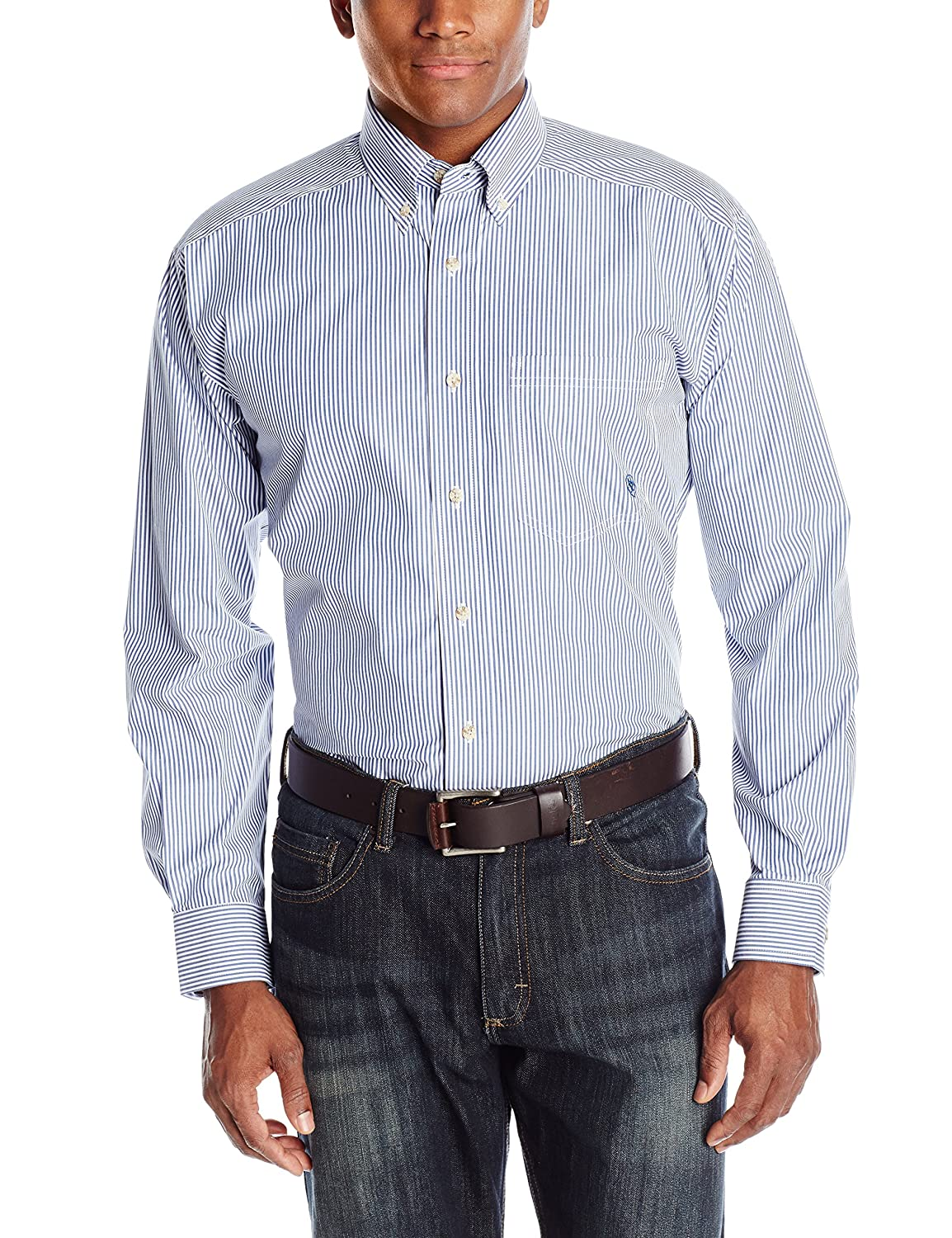 Ariat Mens Big and Tall Classic Fit Long Sleeve Button Down Shirt