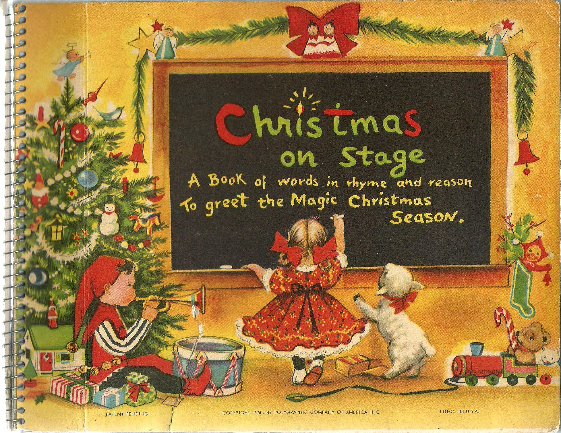 christmas on stage a book of words in rhyme and reason to greet the magic christmas season charlot byj amazoncom books