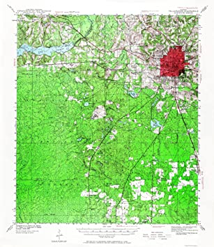 Map Of Tallahassee Florida.Amazon Com Topographical Map Print Tallahassee Florida Quad