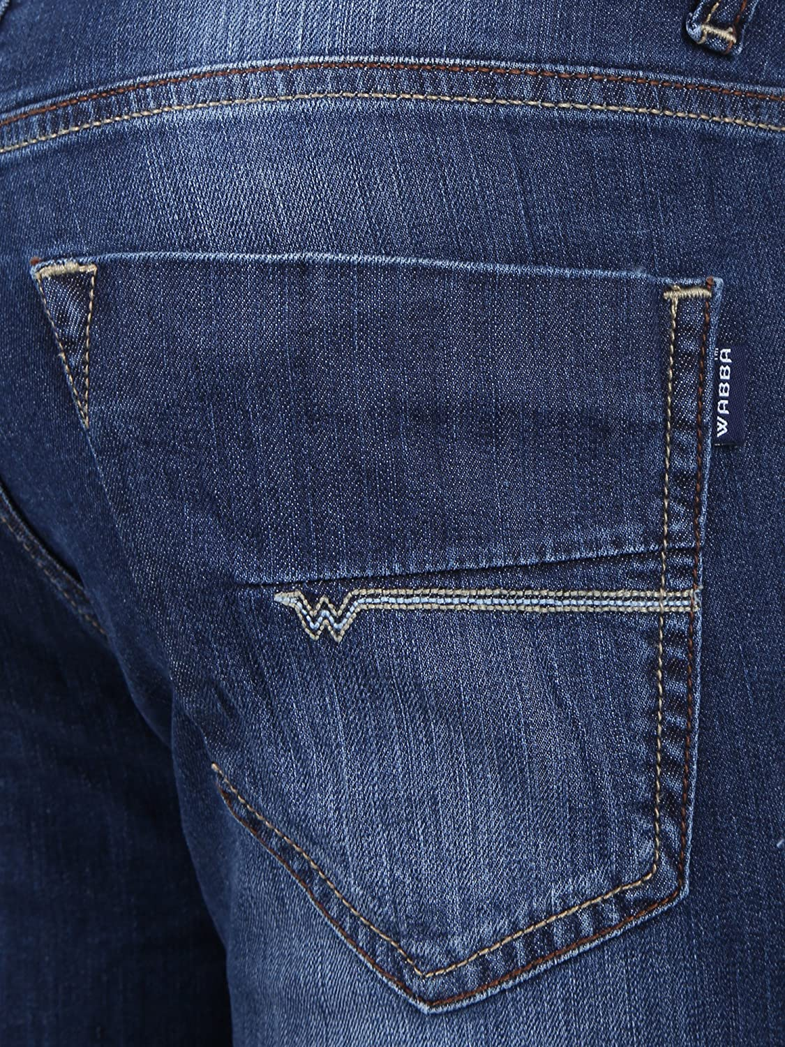 Wabba Mens Stretch Slim Fit Jeans Light Weight Jeans.