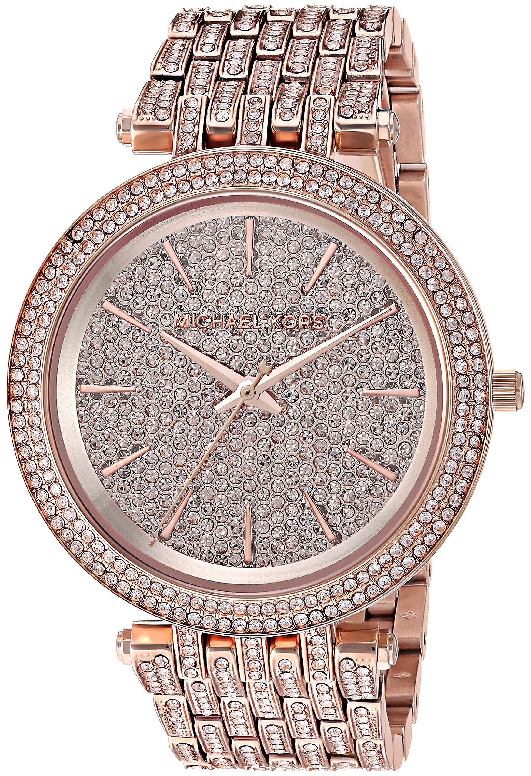 Michael Kors Women's 'Darci' Quartz Stainless Steel Casual Watch, Color:Rose Gold-Toned (Model: MK3780)