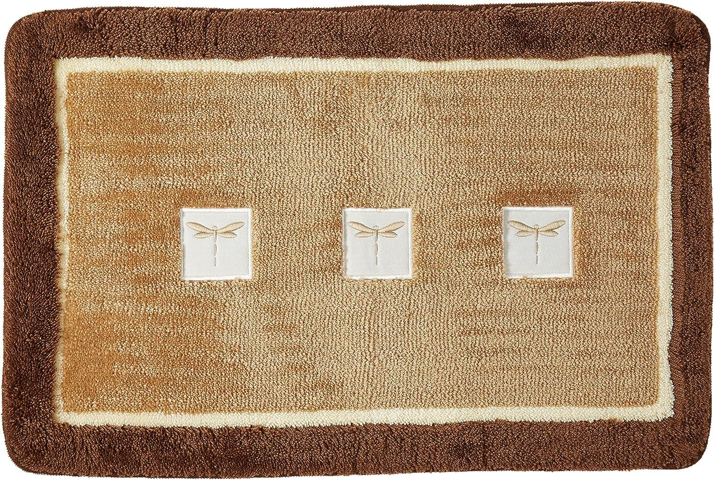 "Dragonfly Bathroom Collection 20/""x30/"" Soft Acrylic Bath Rug R0754NAT"