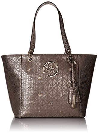 ca960ab8a65 Amazon.com  GUESS Kamryn GE Tote Pew  Clothing