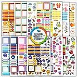 Vladi Creative Planner 贴纸 - 12 张/630 + 超值贴纸 - 日常、每周、每月记事本和子弹日记(+季节性及假日贴纸)