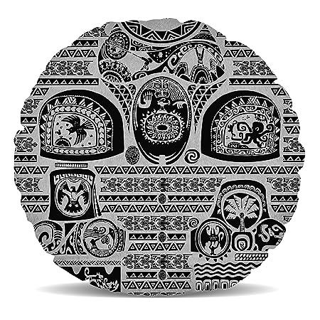Cojín de Forro Polar Inspirado en la Reina de Casos Maui Tattoos ...