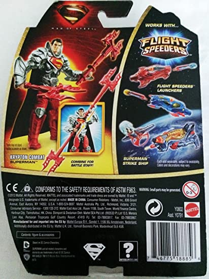 Man of Steel Movie Basic Action Figure Krypton Combat Superman by Man of Steel Superman Movie Toys & Action Figures