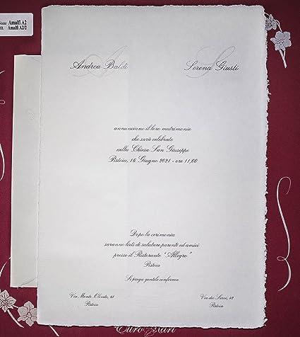 Partecipazioni Inviti Matrimonio.Inviti Matrimonio Carta Amalfi Cod 1122 Produzione