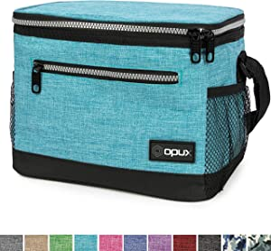 OPUX Premium Lunch Box, Insulated Lunch Bag for Men Women Adult | Durable School Lunch Pail for Boys, Girls, Kids | Soft Leakproof Medium Lunch Cooler Tote for Work Office | Fits 8 Cans (Turquoise)