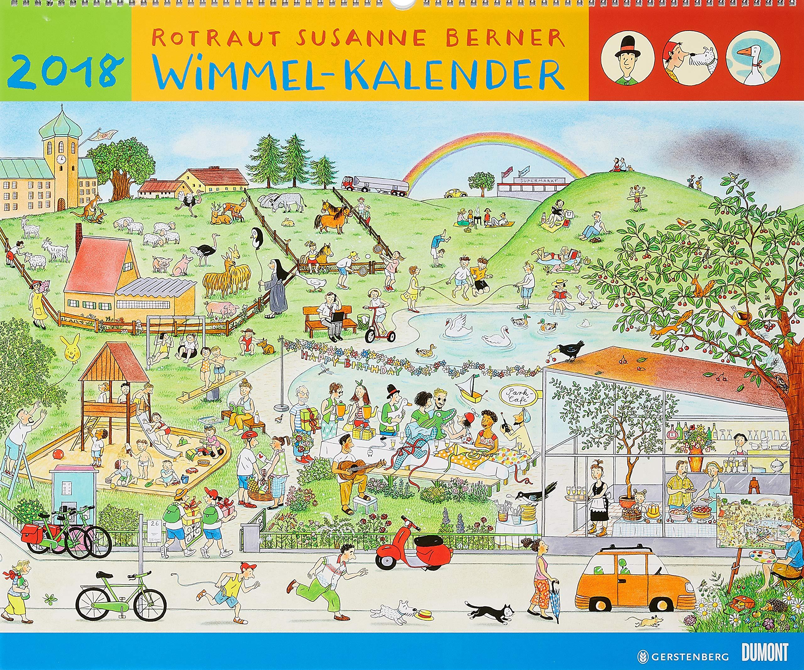 Wimmel-Kalender 2018 – DuMont Kinderkalender – Wandkalender 58,4 x 48,5 cm – Spiralbindung