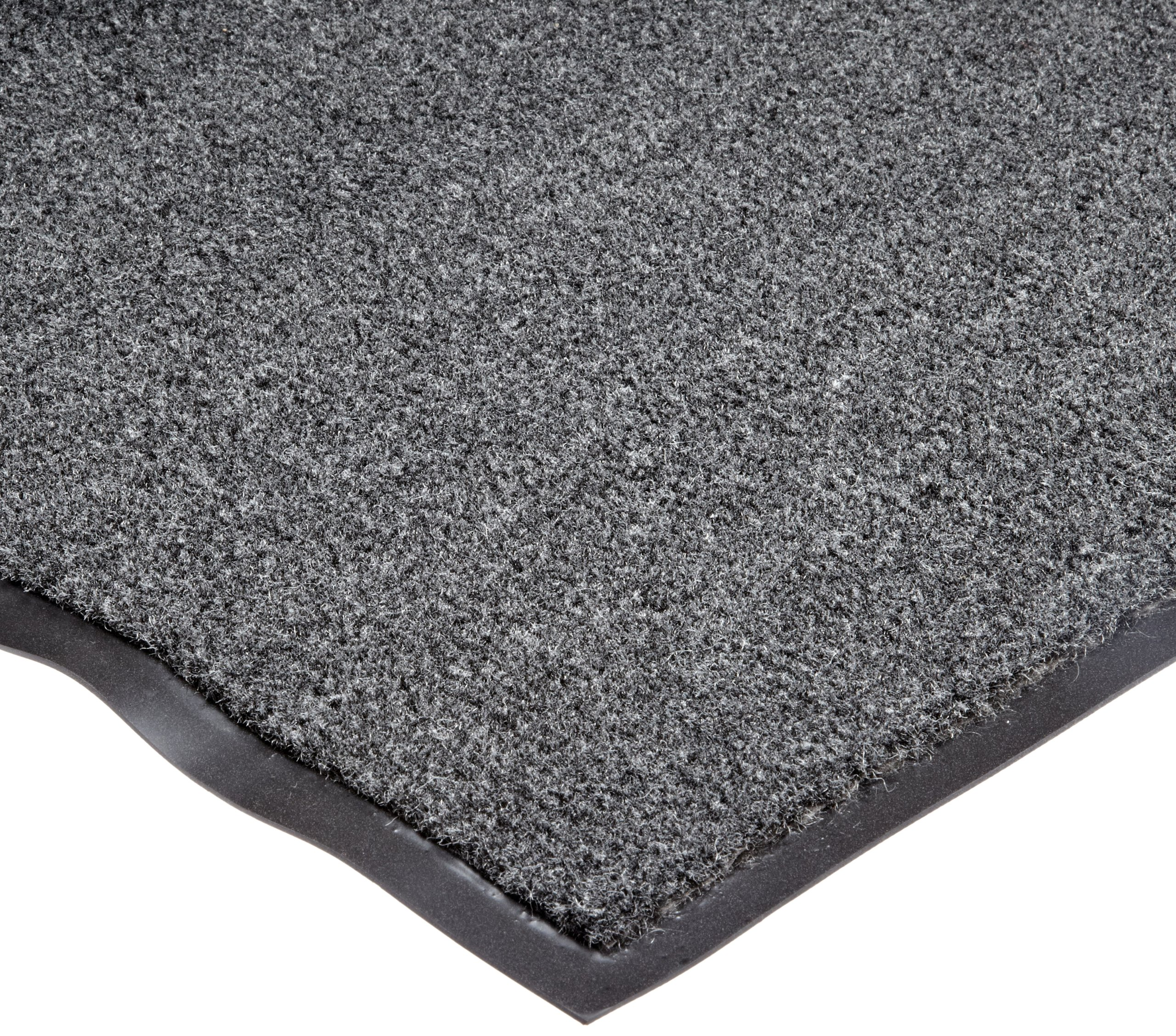 NoTrax T37 Fiber Atlantic Olefin Entrance Carpet Mat, for Wet and Dry Areas, 2' Width x 3' Length x 3/8'' Thickness, Gun Metal