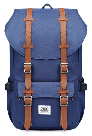 Kaukko New Feature of 2 Side Pockets Outdoor Travel Hiking Backpack Laptop  Schoolbag for Men and Women Blue: Amazon.co.uk: Computers & Accessories