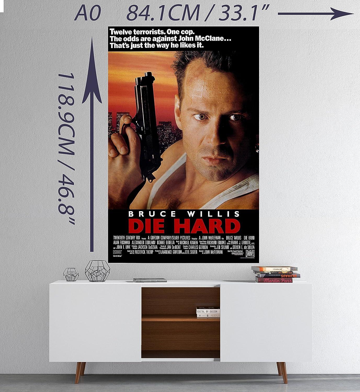 Die Hard Bruce Willis Classic Movie Poster Print A0 A1 A2 A3 A4 Maxi