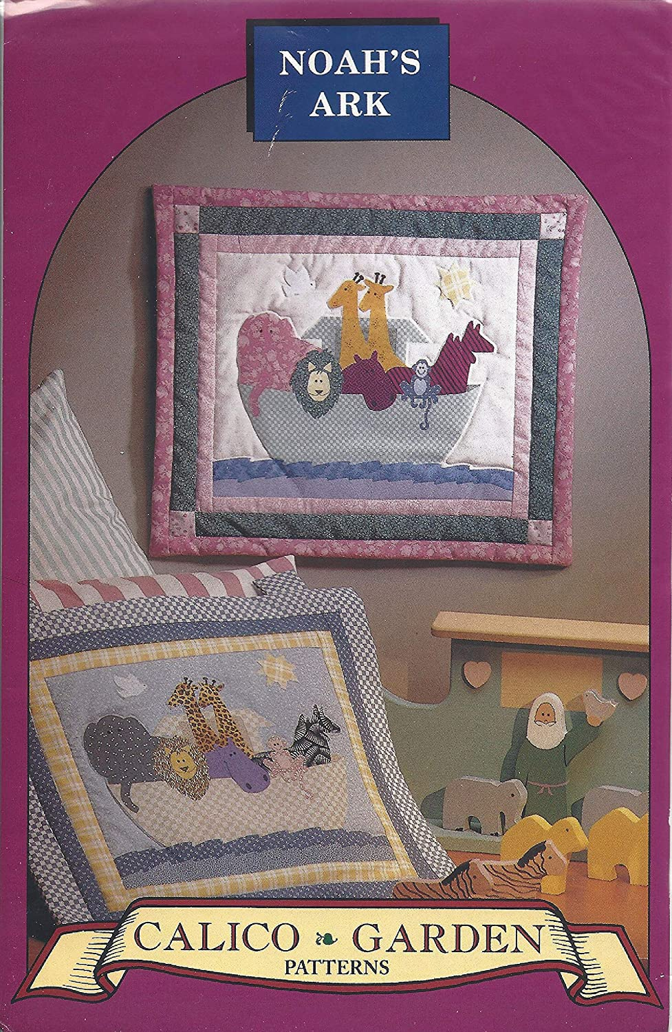 Noahs Ark Wall Hanging Patterns from Calico Garden Designed by Tami Gandre Finished Sizes Pink Quilt 20 x 17 Blue Quilt 19 x 16