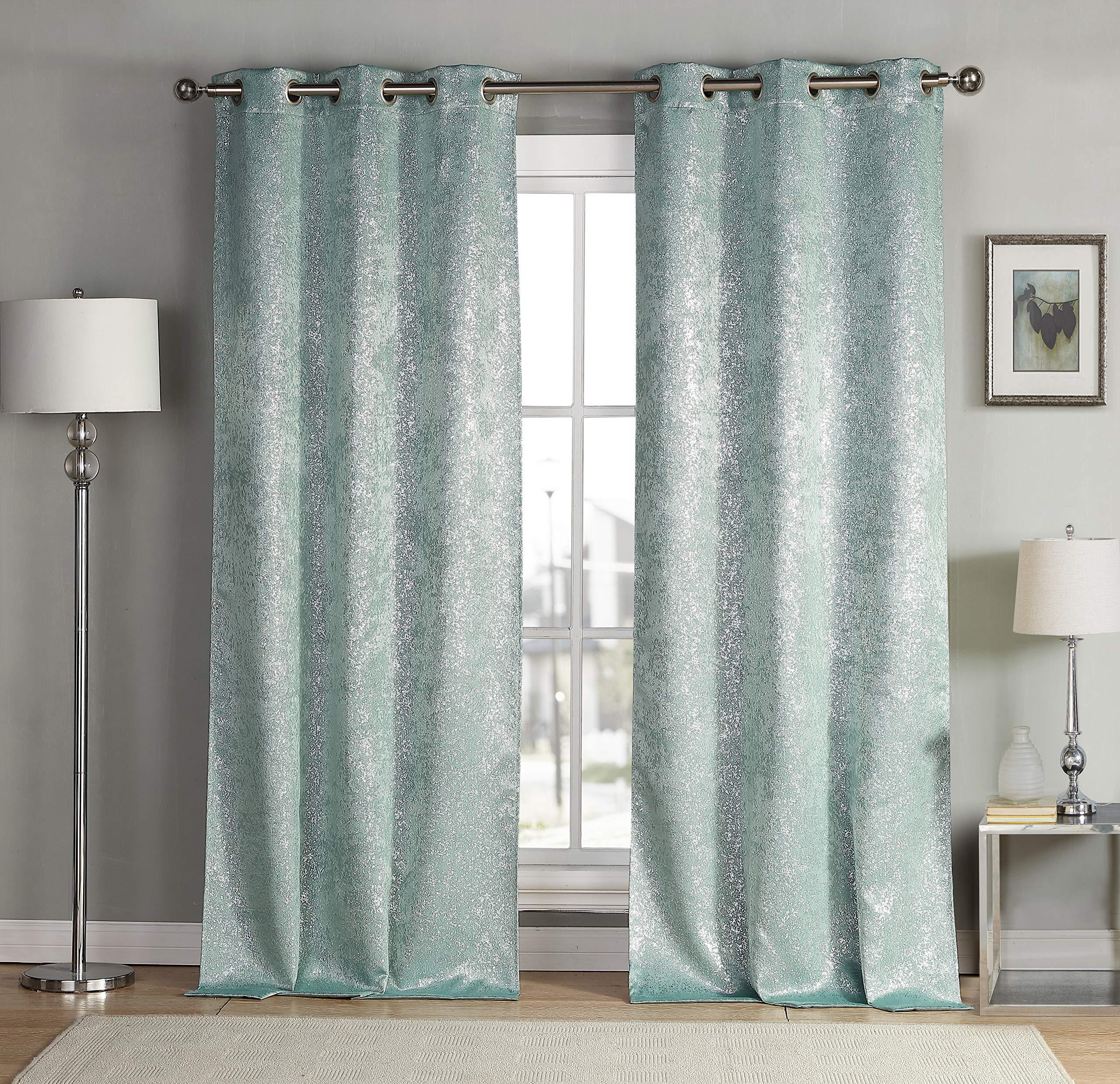 Duck River Textile Maddie Blackout Curtains, Seafoam