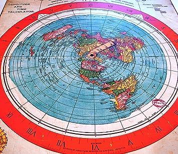carte de la terre plate Flat Earth Poster Print: Gleasons New Standard Map of World 1892