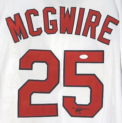 newest 33e44 790b3 Mark McGwire Signed Autographed St. Louis Cardinals White ...
