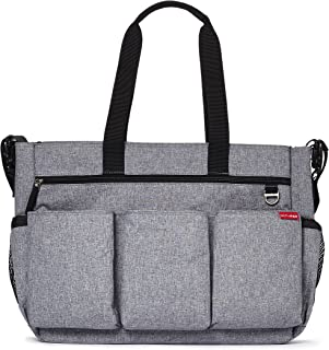 Skip Hop 230014 – Borsa fasciatoio Duo Double Signature Heather, Grey