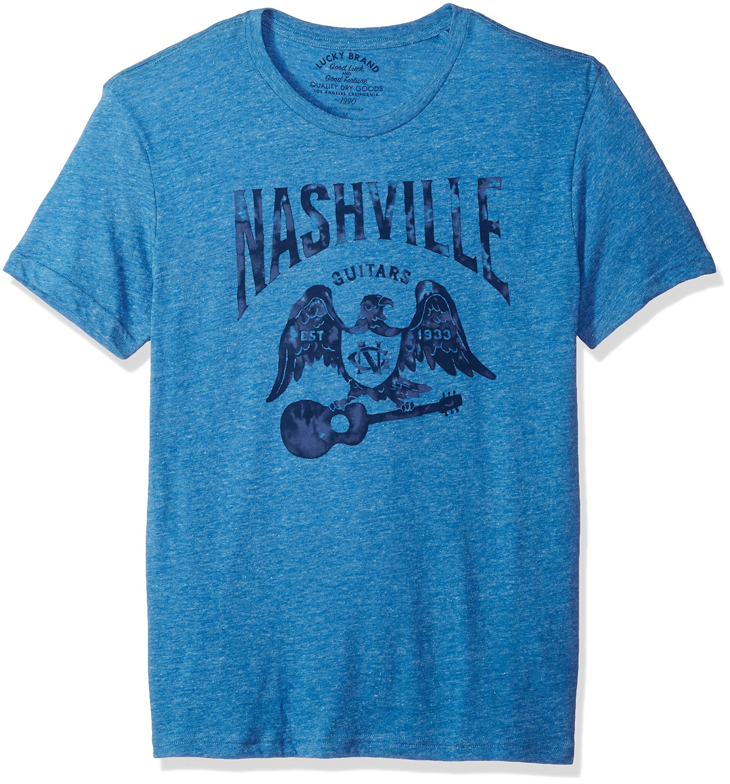 Lucky Brand Men's Nashville Eagle Graphic Tee, Federal Blue, S