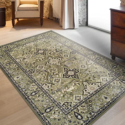 Superior Radcliffe Collection Area Rug, 8mm Pile Height with Jute Backing, Traditional European Tapestry Design, Fashionable and Affordable Woven Rugs – 8 x 10 Rug