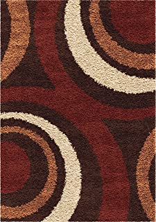 """product image for Orian Rugs Impressions Shag Ring of Fire Area Rug, 5'3"""" x 7'6"""", Brown"""