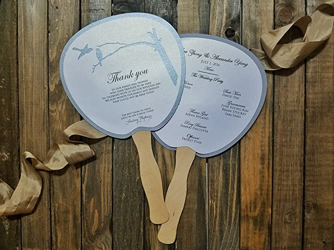 amazon com program fan wedding program destination wedding