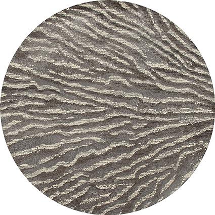 Amazon com: Art Carpet Troy Collection Ripple Woven Round