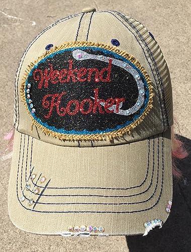 83d396f7cb943 Amazon.com  Weekend Hooker Fishing Cap Southern Women s Trucker Hat ...