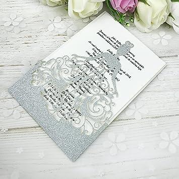 Amazon ponatia 25pcs lacer cut wedding invitations card hollow ponatia 25pcs lacer cut wedding invitations card hollow bride invitations cards for wedding bridal invitation engagement stopboris Image collections