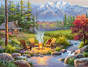Ravensburger 16445 Riverside Kingdom 750 Piece Large Pieces Jigsaw Puzzle for Adults - Every Piece is Unique, Softclick Technology Means Pieces Fit Together Perfectly