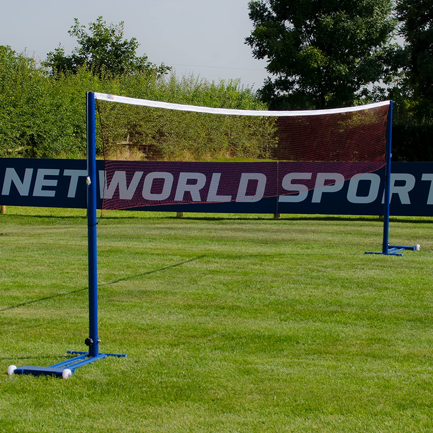 ProCourt Badminton Posts & 20ft Net (Freestanding) - Perfect for schools, clubs, leisure centres! [Net World Sports]