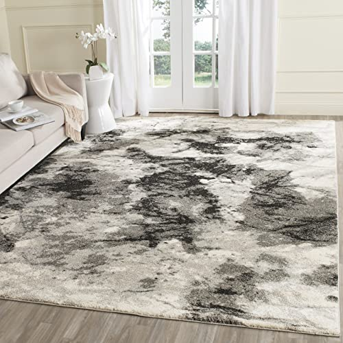 Safavieh Retro Collection RET2141-1180 Modern Abstract Cream and Grey Area Rug 8'9″ x 12'