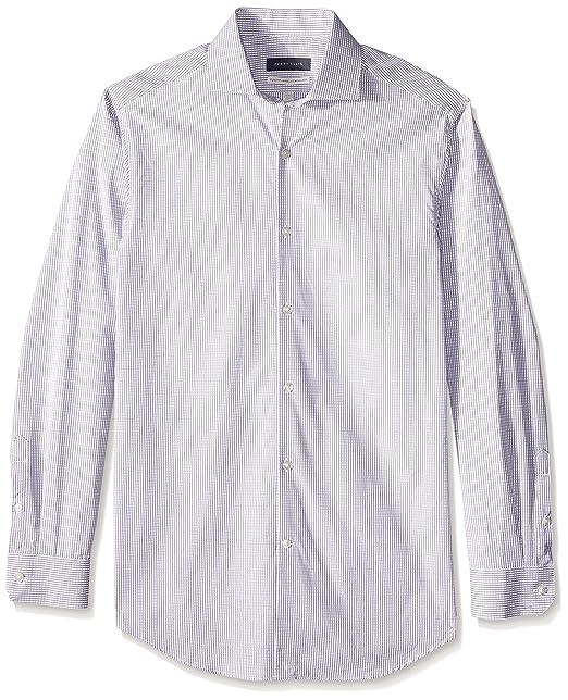 721e47ea9 Perry Ellis Camisa de Vestir para Hombre, color Gris, 15: Amazon.com ...