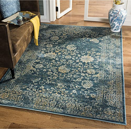 Safavieh Courtyard Collection CY6114-22 Brown and Aqua Area 9 x 12 Rug