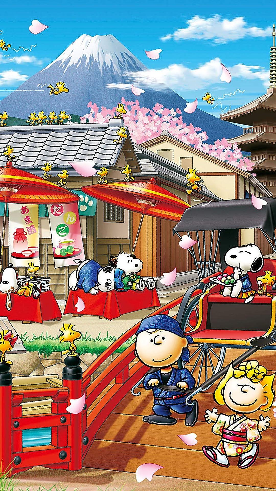 スヌーピー フルhd 1080 19 スマホ壁紙 待受 スヌーピー イン ジャパン アニメ スマホ用画像
