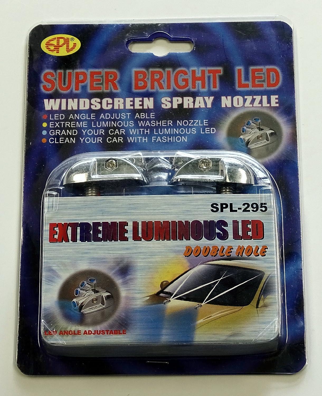 Boquilla atomizadora por limpiaparabrisas con luz azul doble ...