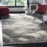 Safavieh Retro Collection RET2891-8012 Modern Abstract Grey and Ivory Area Rug (10' x 14')
