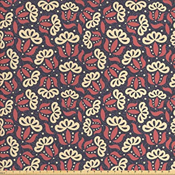 Amazon Com Ambesonne Retro Fabric By The Yard Primitive Style