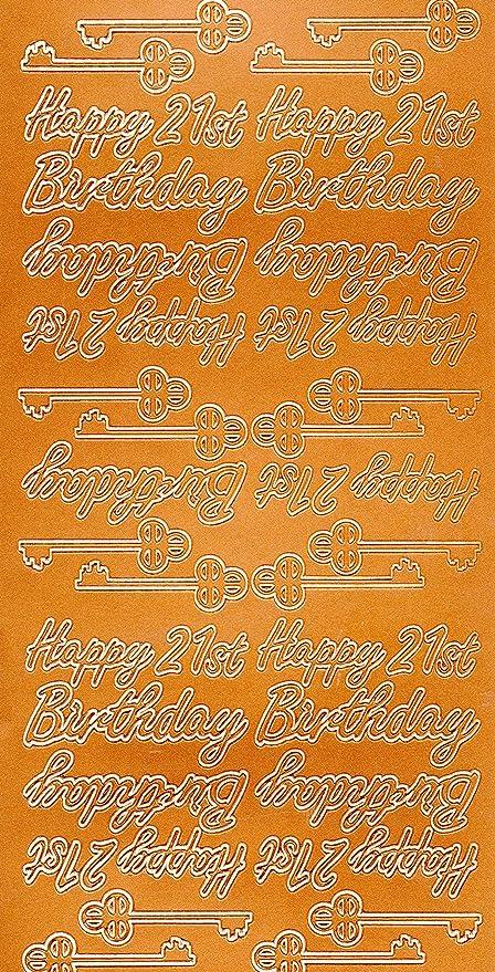 Cobre Color Peel Offs Feliz Cumpleaños Redacción Etc