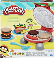Conjunto de Massinha Play-Doh Festa do Hamburguer 5 Potes Hasbro