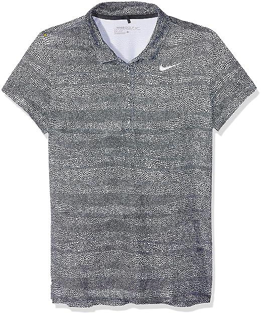 Nike Prcsn Zebra Print Camiseta Polo de Manga Corta de Golf, Mujer ...