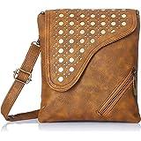 Alessia74  Women Sling Bag (Tan)(PBG248E)