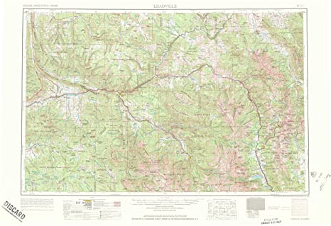 Amazon Com Yellowmaps Leadville Co Topo Map 1 250000 Scale