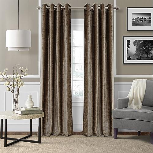 Elrene Home Fashions Victoria Velvet Room Darkening Window Curtain Panel