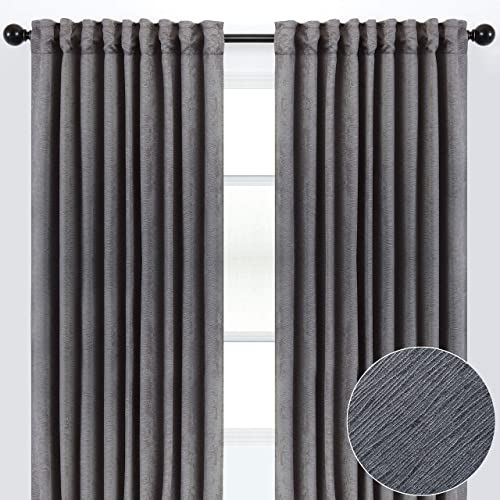 Chanasya 2-Panel Solid Embossed Elegant Textured Curtains - the best window curtain panel for the money
