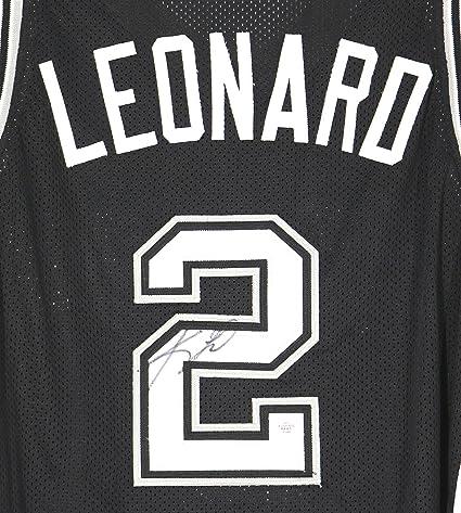 8d5cf223d1f Kawhi Leonard San Antonio Spurs Signed Autographed Custom Black #2 Jersey  PAAS COA
