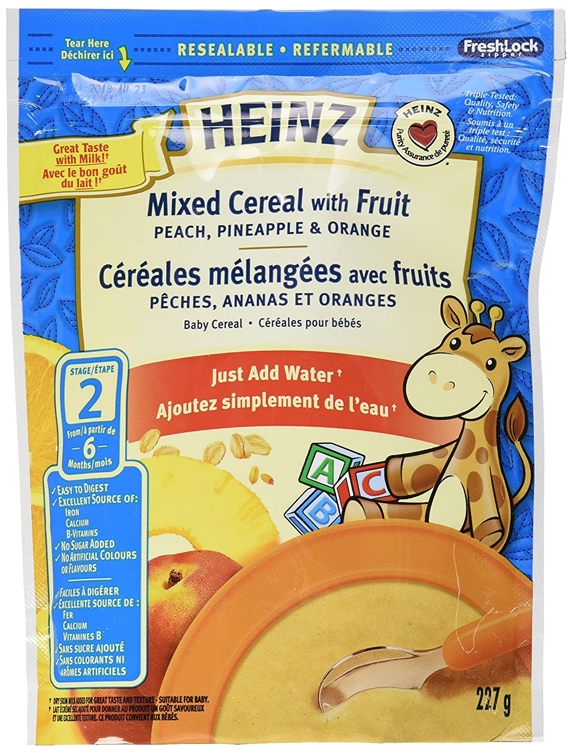 HEINZ Mixed Cereal - No Milk, 6 Pack, 227G Each Kraft Heinz Canada ULC