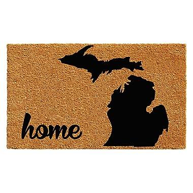 Calloway Mills 102912436 Michigan Doormat, 24 x 36, Natural/Black