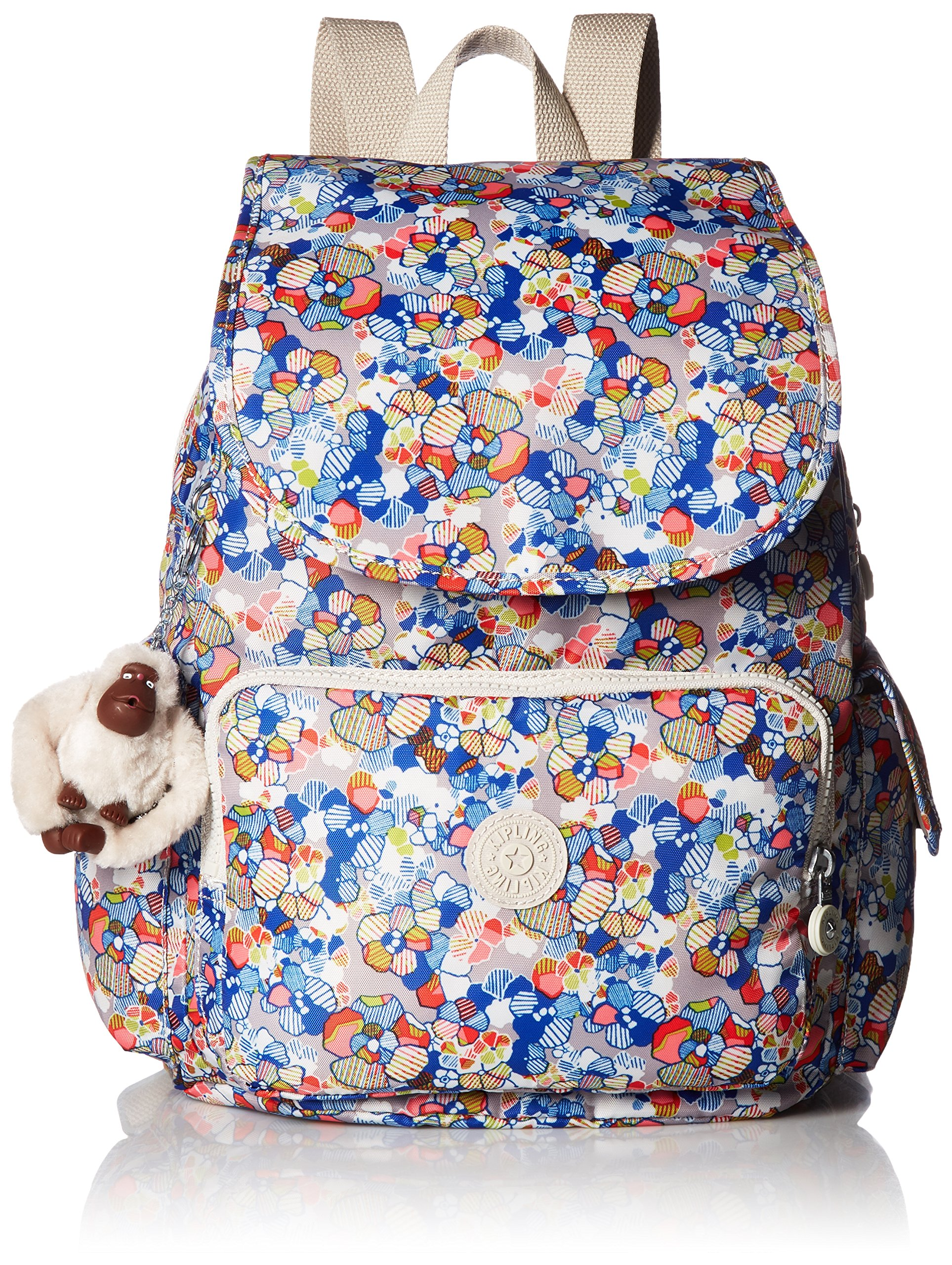 Kipling Women's Ravier Medium Solid Backpack, Funny Fields