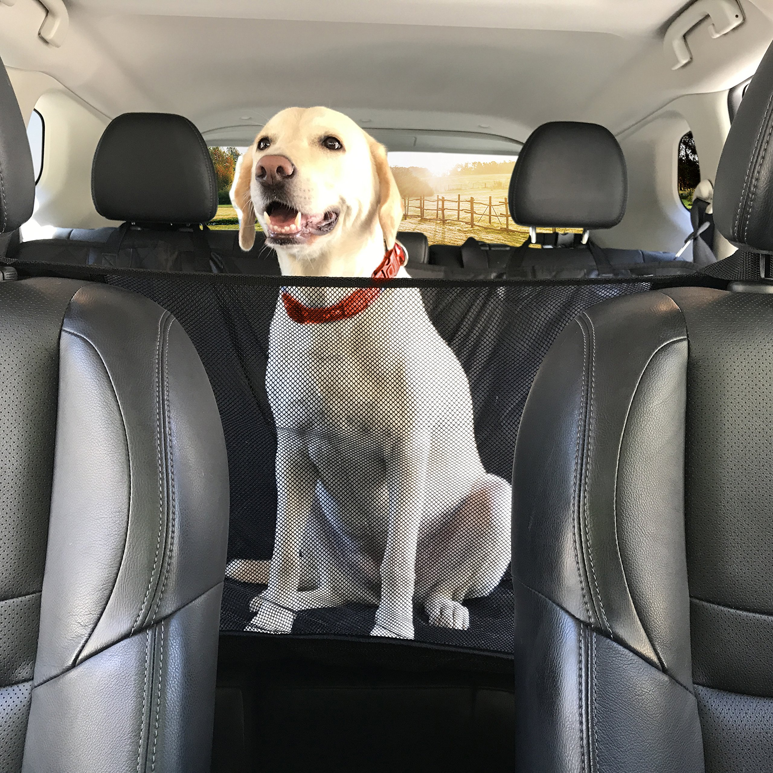 PREMIUM XL Dog Car Seat Cover Hammock Style And Cargo Liner For Cars, Trucks And Suv's. The Original Design You Can See Your Pet & Your Pet Sees You with the ClearView Window- Keeps Your Pet Calm. by Kululu (Image #1)